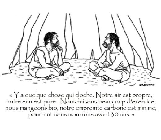 Faible empreinte carbone = âge des cavernes